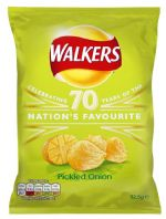 Walkers Crisps Pickled Onion 32 x 32.5gm